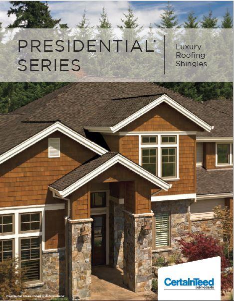 Presidential Series Roofing Shingles brochure